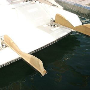 Swing-Away Dinghy Stowage