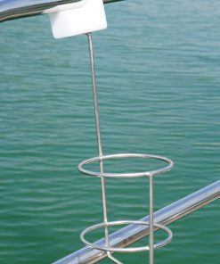 Bottleholder for Guard Rails and Stanchions