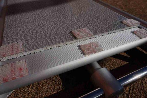 Velcro taps non-slip mat for gangway
